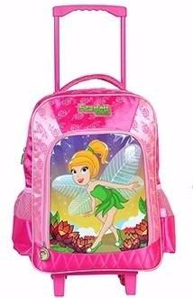 material mochila escolar infantil bolsa menina tinker rosa