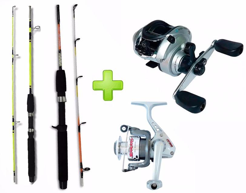 da6c7b0b0 material pesca esportiva 2 varas 1 carretilha 1 molinete 12. Carregando  zoom.