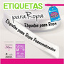 Etiquetas Para Ropa Personalizadas Cinta Raso
