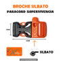 Broches Click Clack Con Silbato / Paracord Driza