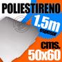 Lamina Poliestireno 1.5mm 50x60 Cms Blanco