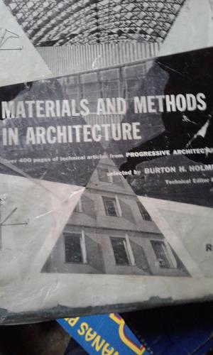 materiales y metodos para la arquitectura