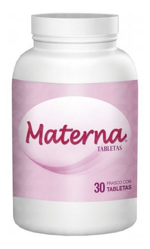 materna frasco 30 tabletas