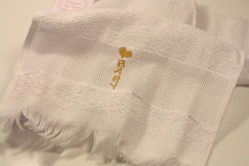maternidade menina toalha bordada lembrancinha 20 unidades