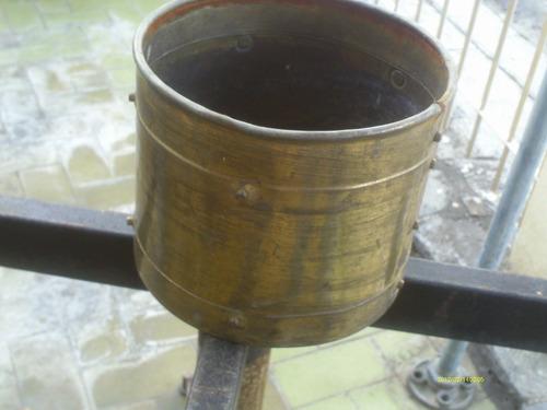 matero de bronce antiguo redondo marca elpec england