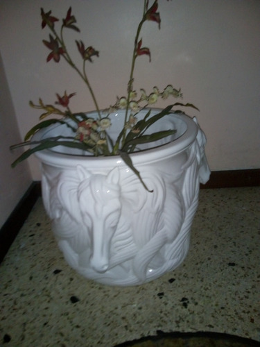 matero decorativo blanco