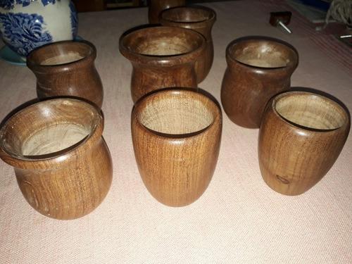mates artesanales en madera dura (algarrobo)