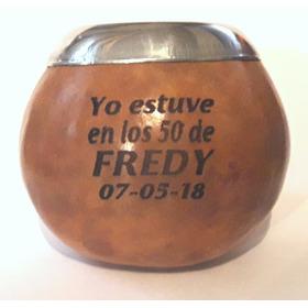 Mates De Calabaza Souvenir Grabado Incluido Tam Ideal