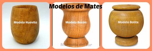 mates de madera pintados a mano