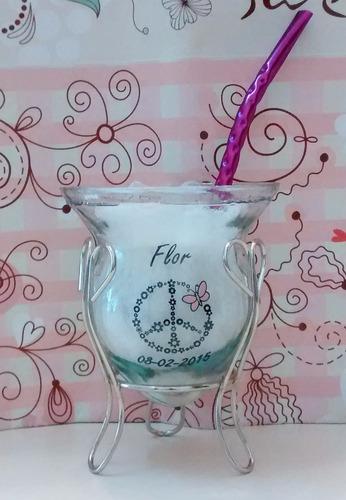 mates souvenirs vidrio con soporte 15  casamiento ceramica