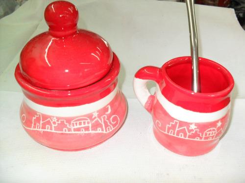 mates tazas azucareras de ceramica artesanal