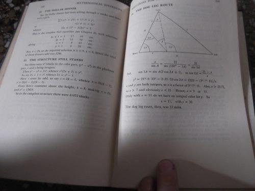 mathematical diversions hunter madachy en ingles tapa dura