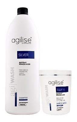 matizador silver agilise shampoo e mascara perolizante