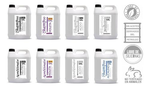 matizador violeta shampoo y crema sin sal 5+5 lt