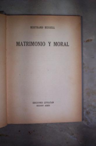 matrimonio y moral por bertrand russell
