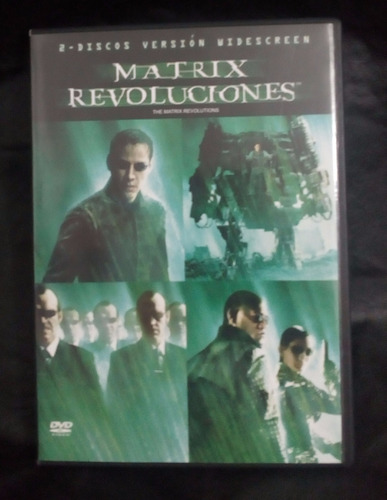 matrix revoluciones dvd original