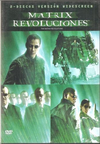 matrix - revolutions  (2 dvds pelicula original)
