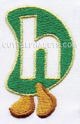 matriz bordado alfabeto centopeia