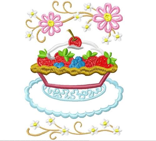 matriz bordado aplique doces e bolos