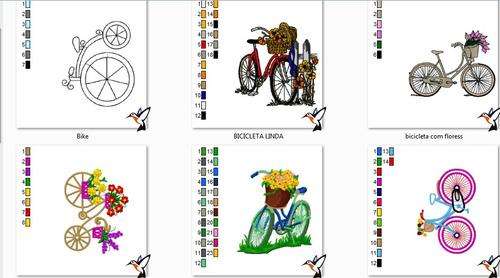 matriz bordado bicicleta