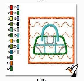 matriz bordado bolsas e sacolas