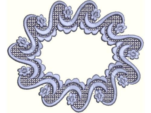 matriz bordado conjunto molduras aplique delicado