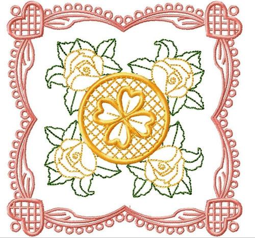 matriz bordado quilt rosas lindas
