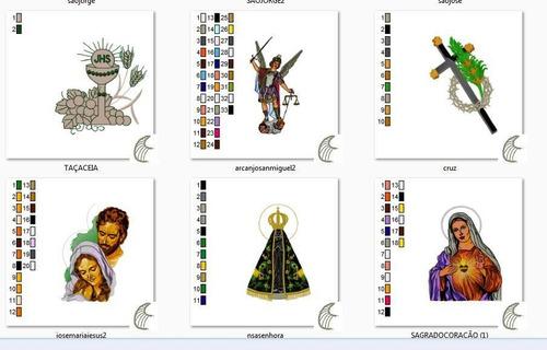 matriz bordado santos e santinhas
