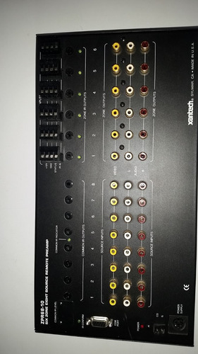 matriz de audio y video xantech modelo zpr68-10
