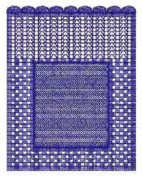 matriz de bordado  bc2455 crochet personal