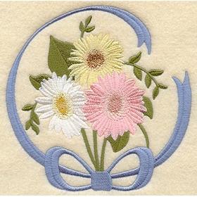 Matriz De Bordado Bc#555 Flores Delicadas