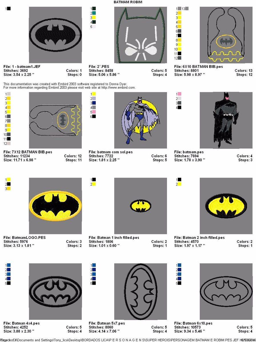 matriz de bordado computadorizado coleção batman 50 matrizes. Carregando  zoom. 10961ac1def