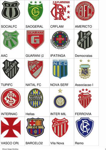 matriz de bordado escudos times de futebol