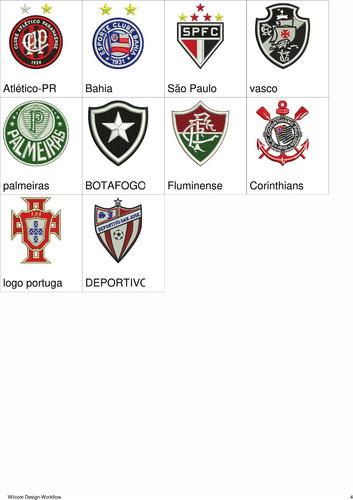 matriz de bordado escudos times de futebol-venda por unidade
