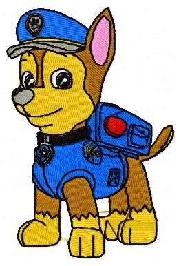 matriz de bordado patrulha canina