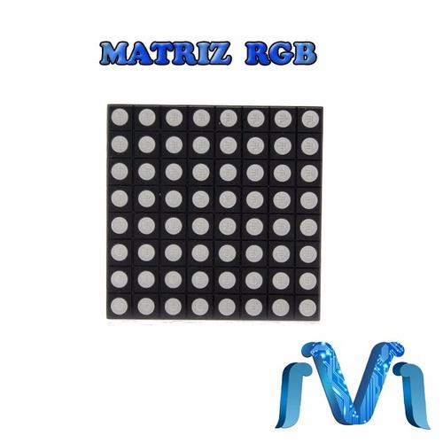 matriz de puntos led rgb 8x8 - ánodo común - 60mm