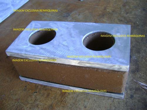 matriz de tijolo solo cimento (ecológico) - par - 25x12,5cm