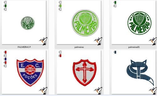 matrizes bordado computadorizado - time de futebol - escudos