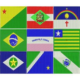 Matrizes De Bordado Bandeiras- Estados Do Brasil - Via Email