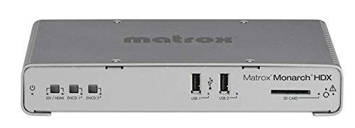 matrox monarch hdx dual-channel h.264 encoder with 3g-sdi an