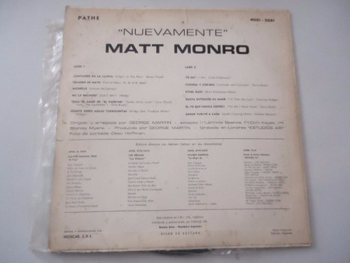 matt monro / nuevamente vinyl lp acetato