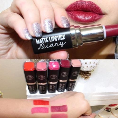 matte lipstick diary j.cat original labial mate
