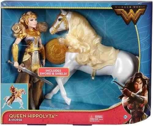mattel dc wonder woman queen hippolyta doll horse 12