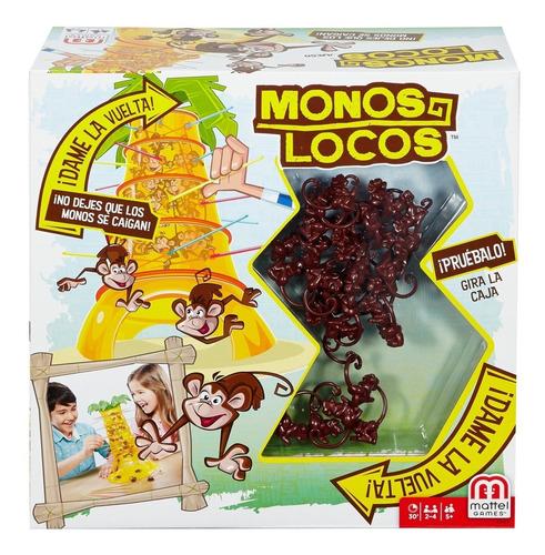 mattel games, monos locos juego de mesa