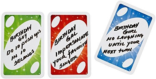 mattel games uno celebration card game
