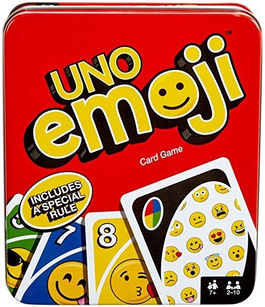 Mattel Juegos Uno Estano Emoji Juego De Cartas Exclusiva De