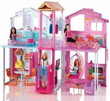 mattel - real super casa 3 andares - barbie - dly32