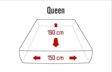 mattress queen size colchon bio