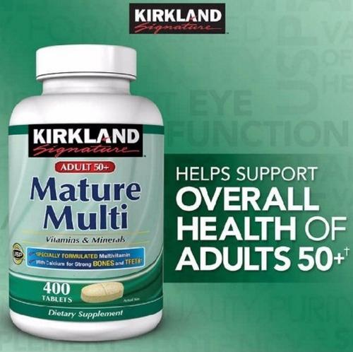 mature multi multivitaminico 400 tabs para adultos kirkland