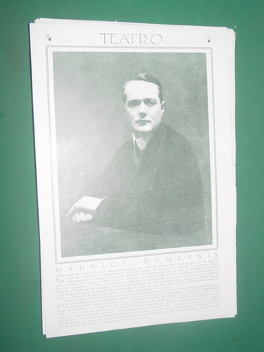 maurice dumesnil clipping recorte actor teatro antiguo